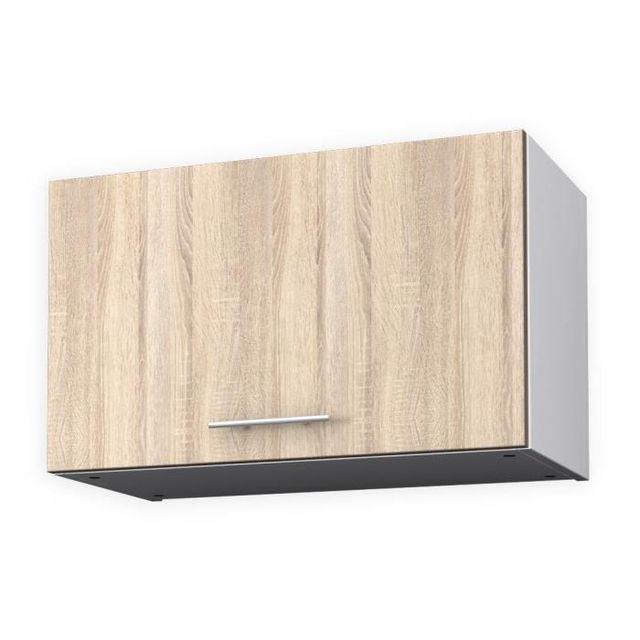 aucune - obi meuble haut hotte 60 cm - décor chene clair - pas ... - Meuble Haut De Cuisine Pas Cher