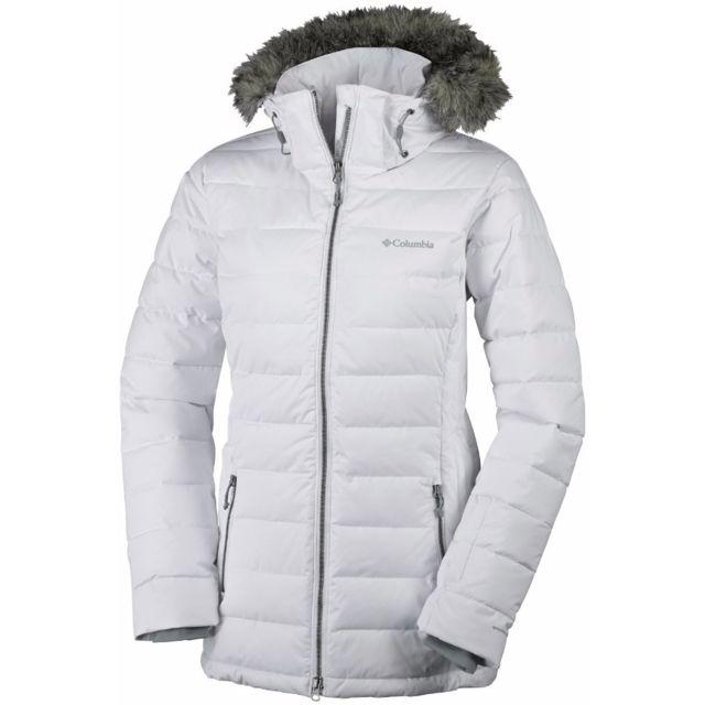 columbia veste de ski ponderay jacket blanc pas cher achat vente blouson de ski. Black Bedroom Furniture Sets. Home Design Ideas