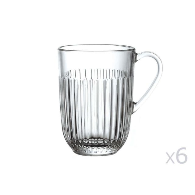 En Transparent Lot 40cl 6Ouessant Mug De Verre QshtrdC