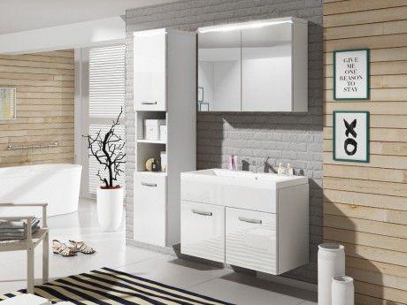 Shower Design Ensemble Nina à leds - meubles de salle de bain - Laqué blanc