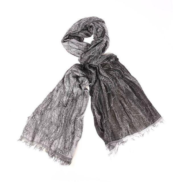 Wrangler - Chèche froissé noir à motifs gris effet marbré - pas cher Achat    Vente Echarpes, foulards - RueDuCommerce ebf349ef996