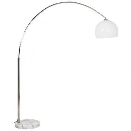 Techneb Lampe Sur Pied Design Moerol Xl En Acier Chrome Grande Et