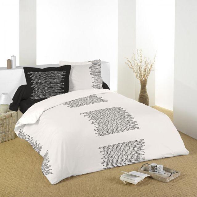 100pourcentcoton housse de couette 260x240 cm alezan 42 2 taies d 39 oreiller 63x63 cm 100 pur. Black Bedroom Furniture Sets. Home Design Ideas