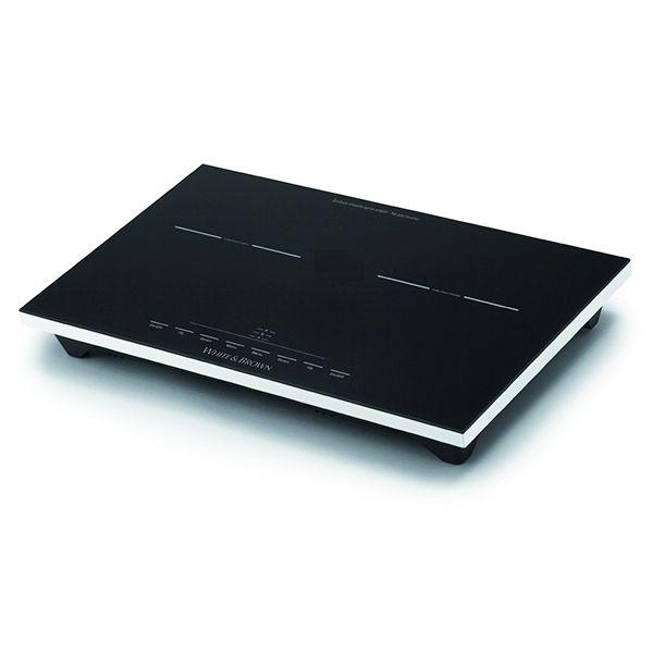 WHITE AND BROWN table de cuisson à induction posable 2 feux 1800w+1300w - pc472