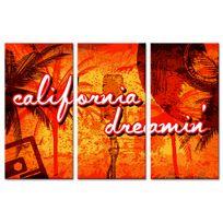 Declina - Tableau triptyque sur toile ambiance californienne - D?co