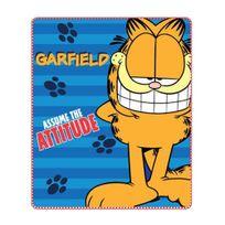 Garfield - Plaid couverture polaire 100 x 140 cm