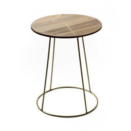 Table d'appoint 40x50cm en manguier et métal