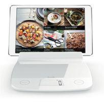 AUBECQ - Balance électronique 2.0 Avec Insert Pour Tablette Ou Ipad