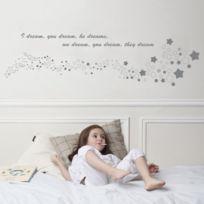 Art for kids - Stickers Muraux RÊVE - Tete De Lit - Dim.L 140 X H