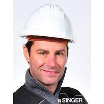 SINGER FRERES - Casque de chantier SINGER en polyéthylène - Blanc - CAS5RSW
