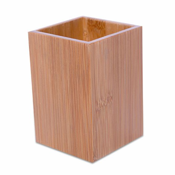 Eminza poubelle ecobio bois bambou pas cher achat for Poubelle bambou