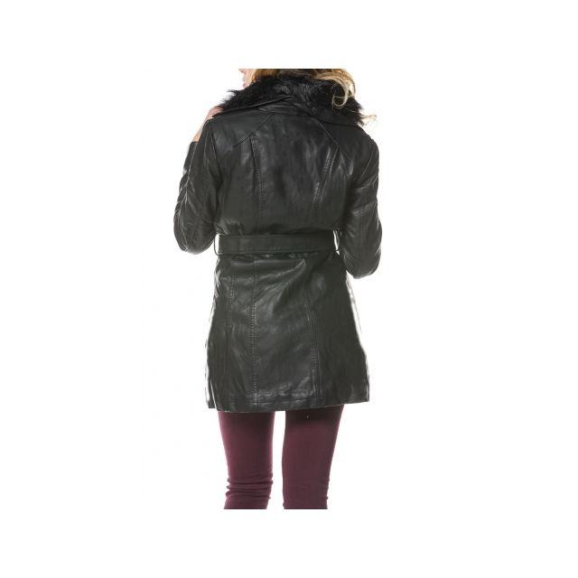Veste Longue Noir Pas Princesse Boutique Mi Simili Cuir A54Rj3L