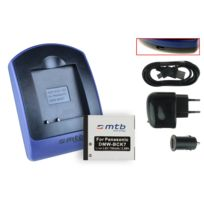 mtb more energy® - Batterie + Chargeur USB, Dmw-bck7E pour Panasonic Lumix Dmc-sz1, Sz5, Sz7