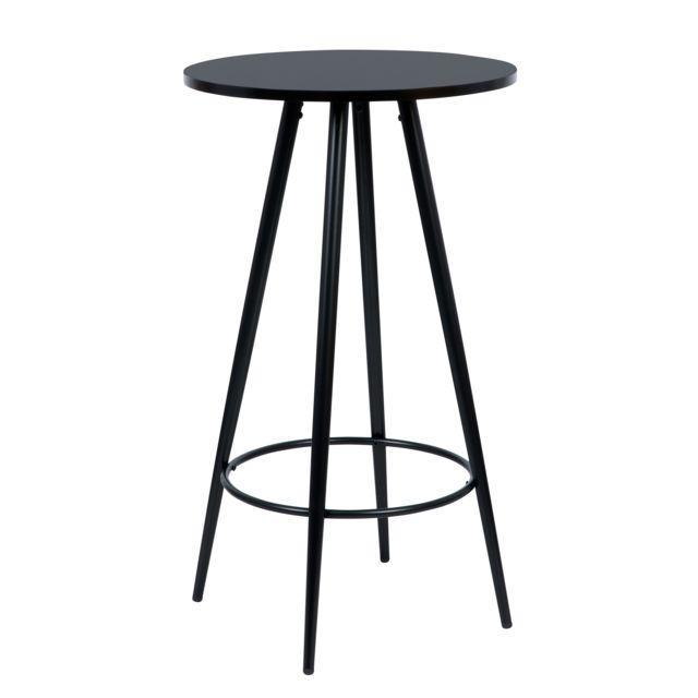 Rendez Vous Deco Table de bar Garibaldi ronde noire Ø60cm