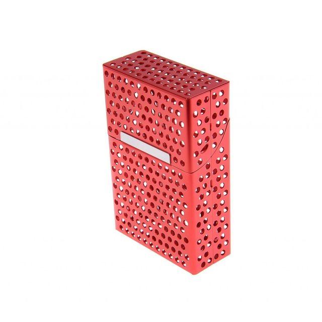 Alpexe Cache paquet de cigarette en Aluminium ouverture automatique Perce Rouge
