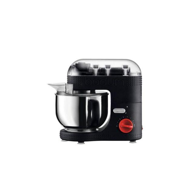 Bodum 11381-01euro-3 Bistro Robot De Cuisine Electrique - Bol Inox 4,7 L - 700 W - Noir