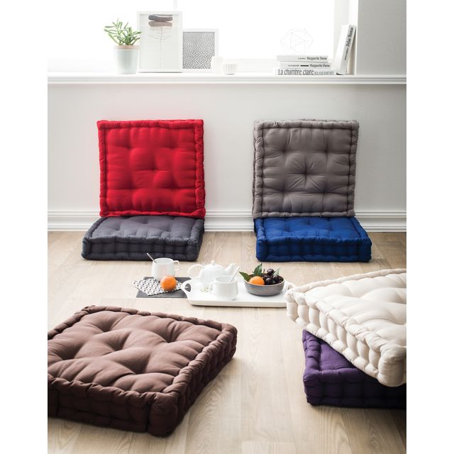 tex home coussin de sol 50cm x 50cm pas cher achat. Black Bedroom Furniture Sets. Home Design Ideas