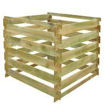 Vimeu-Outillage - Bac à compost carré en lattes en bois 0,54 m³