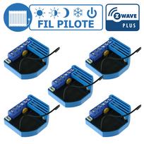 Qubino - Lot de 5 modules Fil Pilote encastrable Z-wave Plus