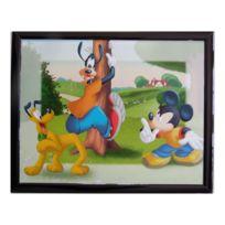 Marque Generique - Tableau Mickey 20 x 25 cm Disney cadre enfant Pluto et Dingo