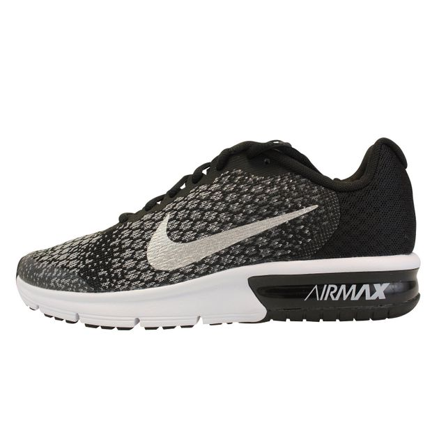 Nike Air Max Sequent 2 GS Noir Gris Blanc