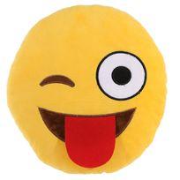 Sans Marque - Peluche coussin Emoji Clin d'oeil