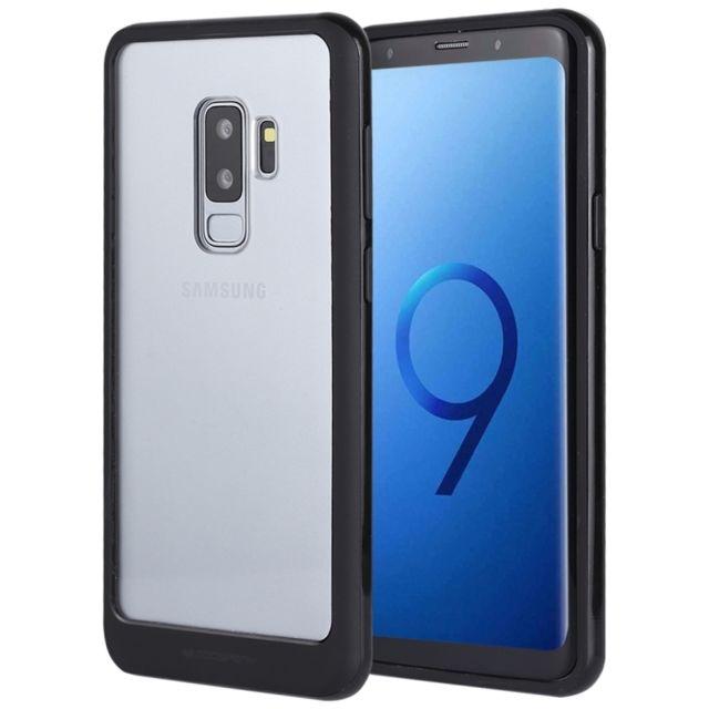 Coque Samsung Galaxy S9 Plus Fibre de Carbone Anti Choc Mince Étui protection en TPU pour Galaxy S9 Plus Noir