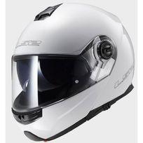 casque intégral modulable Ff325.10 Strobe blanc brillant moto scooter Xl