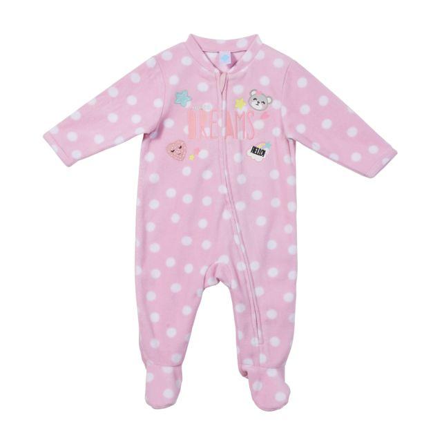 1c9cd6ec10b68 TEX BABY - Lot de 2 pyjamas polaire allover - pas cher Achat / Vente ...