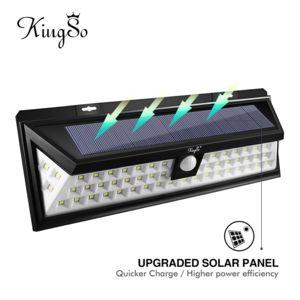 alpexe lampe solaire ext rieur 54 leds d tecteur de mouvement sans fil clairage solaire d. Black Bedroom Furniture Sets. Home Design Ideas
