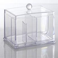 Body beauty - Boîte à Cosmétiques - 2 compartiments - Transparent