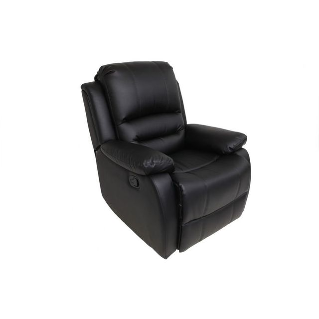 MILIBOO Fauteuil relax manuel noir TED