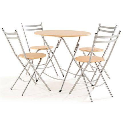 Table + 4 chaises Bois