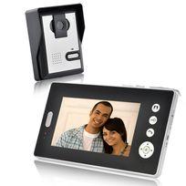 Shopinnov - Interphone audio vidéo sans fil ecran 7 pouces Autonome Charge solaire