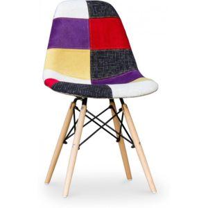 Privatefloor chaise geneva patchwork multicolore pas for Chaise multicolore