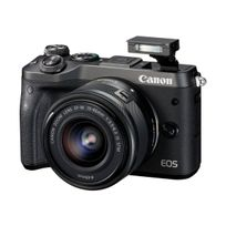Canon - Eos M6 24.2 Mps Appareil photo numérique 1080p système sans miroir Noir