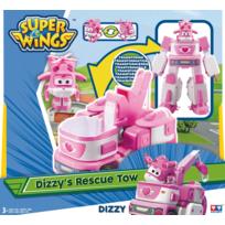 "RUE DU COMMERCE - Super Wings - Véhicule Transformable en robot ""Transforming Cruiser"" 18cm - DIZZY - YW720314"
