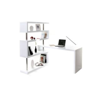 Soldes MILIBOO - Bureau design blanc laqué amovible T-MAX - pas ...