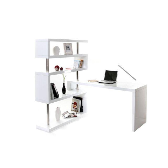 bureau blanc laque Achat bureau blanc laque pas cher Rue du