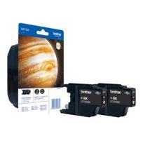Brother - Lc1240 Twin-Pack - 2er-Pack - Schwarz - Original - Blister mit akustischem/elektromagnetischem Alarm - Tintenpatrone