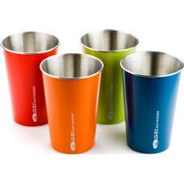 Gsi - Set de tasses en inox - Gourde - 4 pièces Multicolore