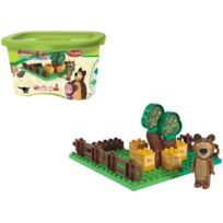 Big - 057092 Macha Et L'OURS Play Bloxx Jardin 20PZ Construction Sm-57092