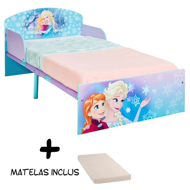 bebe gavroche lit enfant bois et m tal la reine des neiges disney matelas sebpeche31. Black Bedroom Furniture Sets. Home Design Ideas