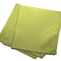 Douceur D'INTERIEUR - 3 Serviettes de table Vert 40 x 40 cm