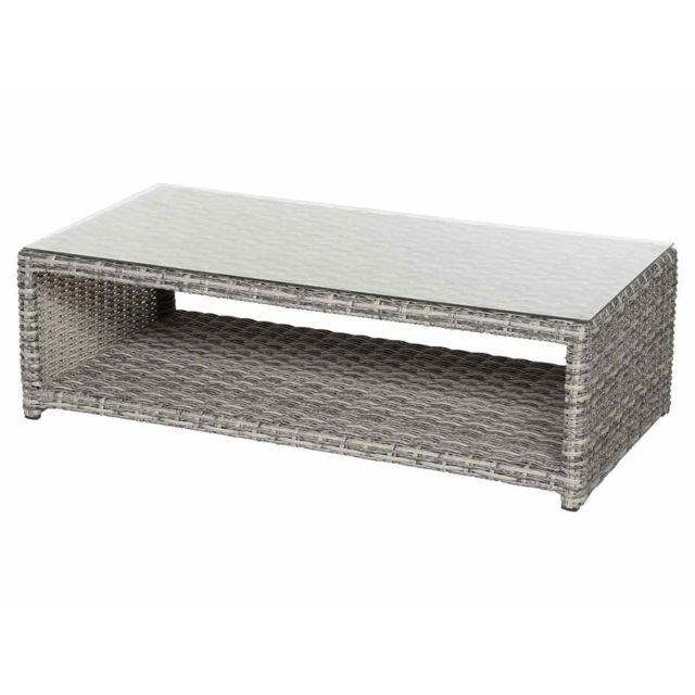 Hespéride - Table basse rectangulaire pour salon de jardin Libertad ...