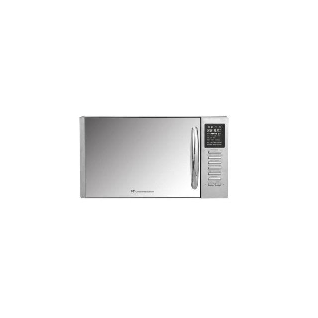 Continental Edison Ce Mo25sg13s - Micro-ondes Combine Noir Porte Miroir - 25l - 900 W - Grill 1000 W - Convection 1000 W