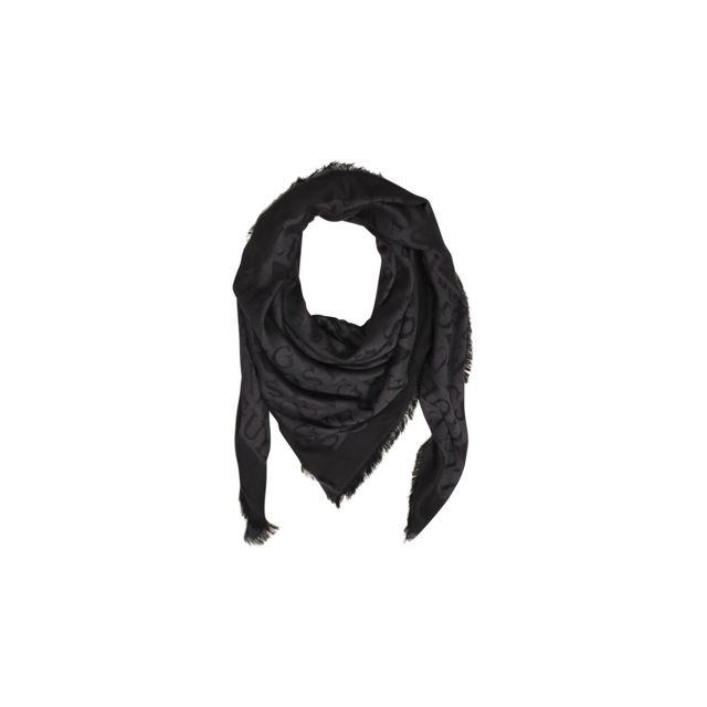 Guess - Foulard Keffieh Femme Imprimé Logo Noir - pas cher Achat ... d71d3b91de5