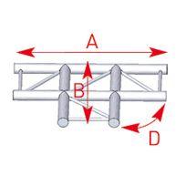 Asd - Asd57AEX33 / Angle 3 départs 90° à plat lg 0m50 x 0m71