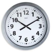 Orium - Horloge géante a piles Quartz 60 cm silver