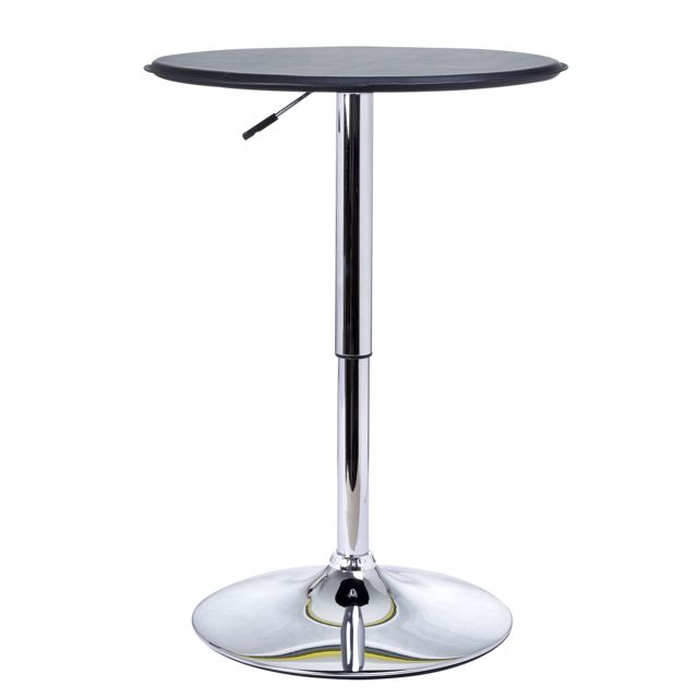 Homcom Table De Bar Table Bistrot Chic Style Contemporain Table
